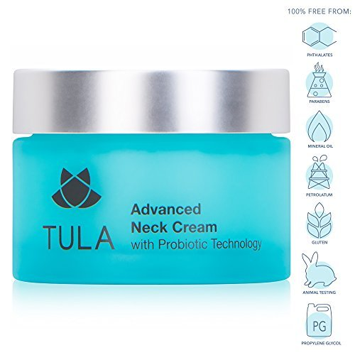 TULA Probiotic Skin Care Advanced Neck Cream | Neck Firming Cream with Shea Butter and Jojoba Oil, Reduce the Appearance of Fine Lines and Wrinkles | 1.7 oz