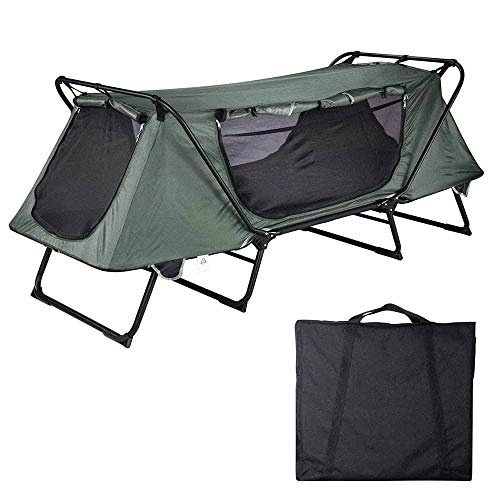 Yescom 1-Person Folding Tent Cot Waterproof Oxford with Mesh Carry Bag Portable Sleeping Bed Outdoor Camping Hiking