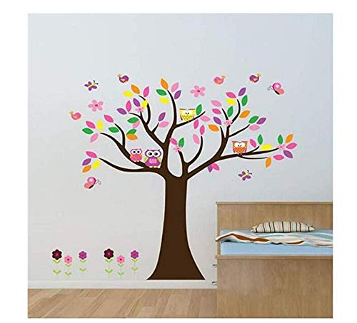 Scroll Tree Letter Branch Peel and Stick Giant Animal Owl Tree Applique