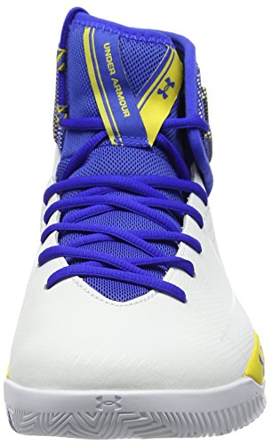 Under Armour Herren UA Rocket 2 Basketballschuhe Weiß (Weiß 100)