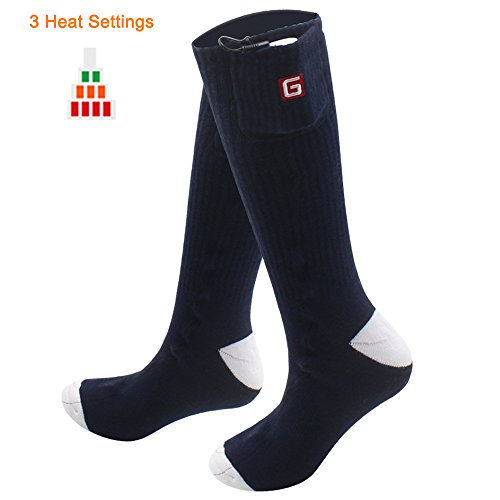 GLOBAL VASION Cold Weather Electric Heated Socks for Men and Women