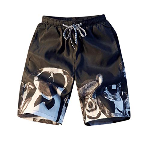 NUWFOR Fashion Men Casual 3D Star Printed Beach Casual Men Short Trouser Shorts Pants(Black,US M Waist:33.86'') by NUWFOR (Image #7)