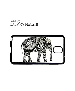 Lmf DIY phone caseElephant Drawing Ethnic Pattern Mobile Cell Phone Case Samsung Note 3 WhiteLmf DIY phone case