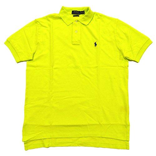 (Polo Ralph Lauren Men's Classic Fit Mesh Polo Shirt (S, Neon Yellow))
