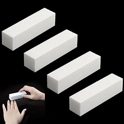 KaLaiXing brand Womens Acrylic Nail Art Tips Buffer Buffing Sanding Block Files-White--10 pcs