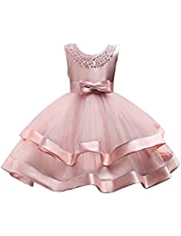 Elegant Floral Girl Wedding Party Dresses for Girls 2-8 Years