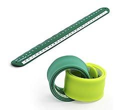 PracticOffice - Pack 2 Reglas Rulómetro de 30 cm en Silicona Ultra ...