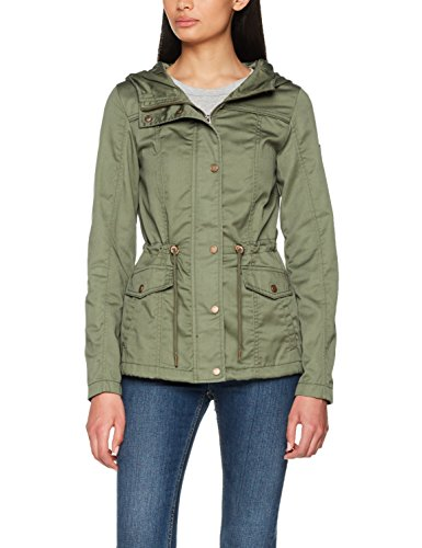 ONLY Damen Parka Onlnew Kate Spring Jacket OTW NOOS, Grün (Kalamata), 36 (Herstellergröße: S)