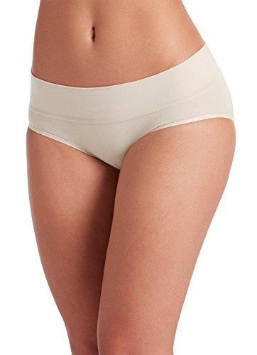 Jockey Women's Underwear Natural Beauty Seamfree Hipster, Sandy Shimmer, 5