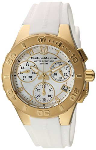 Technomarine Women's 'Cruise' Quartz Stainless Steel and Silicone Casual Watch, Color:White (Model: TM-115088)