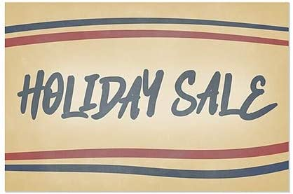 5-Pack 30x20 CGSignLab Nostalgia Stripes Window Cling Holiday Sale