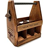 Handcrafted Wooden Beer Carrier with Bottle Opener/Customized / Six Pack