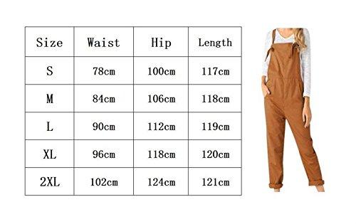 Tutine Winered Primaverile Moda Tasche Tuta Pureed Autunno Eleganti Pantalone Zug Donna Vintage Con Monocromo Overall wTOqOg6