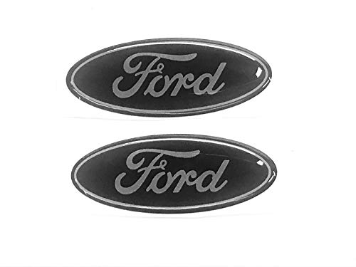 (Sparkoo F-57BS 2X Black Steering Wheel Logo Emblem Badge Overlay Decal For Ford F-150 F-250 F-350 (0.875in x 2.25in) (Black))