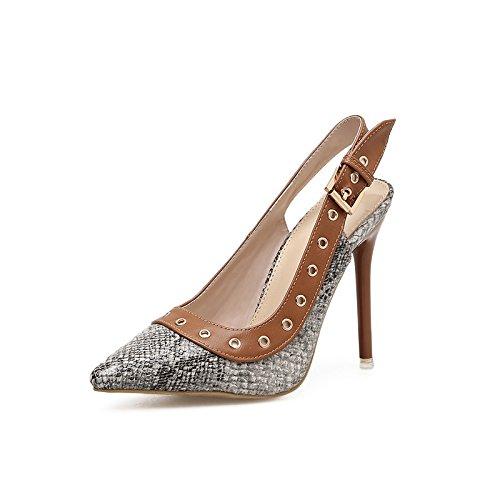 ZHZNVX Die neue Feder Schuhe, die beide Gitter wurden mit leeren Niet tipp Licht - Schuhe sexy snakeskin High Heels B07CG751FG Sport- & Outdoorschuhe Vorzugspreis