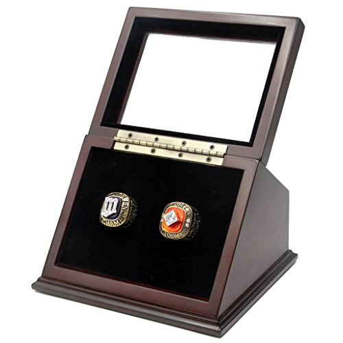 CITYS' GLORIES Rare & Collectible Replica AMERICAN BASEBALL (MLLB) CHAMPIONSHIP RINGS WITH SLANANTED GLASS WINDOW DISPLAY CASE BOX SET - SIZE 11 (AL CENTRAL - MINNESOTA, 11)
