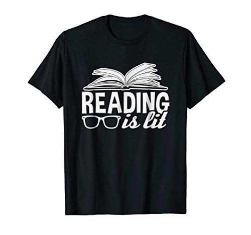 Reading t-shirt for women, men & kids reading is lit!