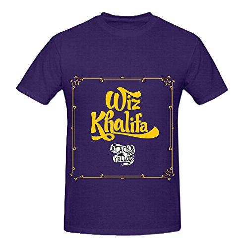 Rams Team Louis Bank - Wiz Khalifa Black And Yellow Men O Neck Big Tall Tee Shirts Purple