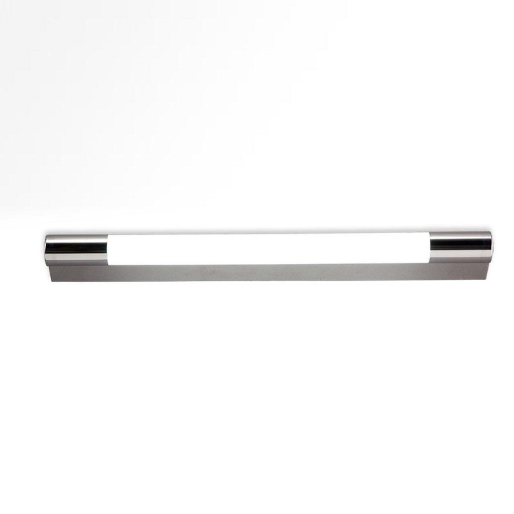 Hyzb LED Badezimmer Kosmetikspiegel Spiegel Beleuchtung Schlafzimmer Wohnzimmer Wasserdicht Anti-Fog Edelstahl Silber (Farbe   weißes Licht, Größe   58cm12w)