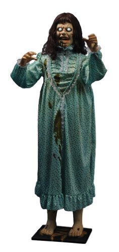Morbid Enterprises The Exorcist Life Sized Animated Regan, Green/Brown/Cream/White/Red, One Size