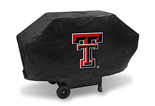 NCAA Texas Tech Red Raiders Vinyl Padded Deluxe Grill Cover ()