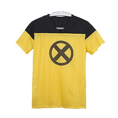 Yacn 2018 Movie Deadpool T Shirt,Deadpool Short Sleeve Cosplay, Deadpool 2 Tees Shirts Costume (XXL)]()