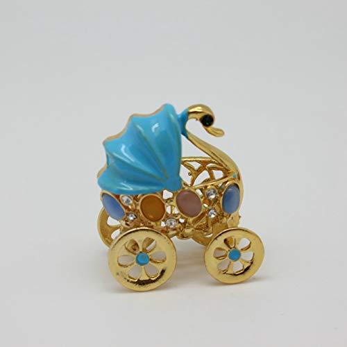 znewlook Mini Carriage Beautiful Jewelry Box Trinket Gift for Girls Bady Trinket Gifts Cute Metal Diplay Decor