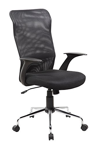 Anji High Back Ergonomic Mesh Office Computer Desk Chair with Arms and Metal Base Black by Anji Modern Furniture
