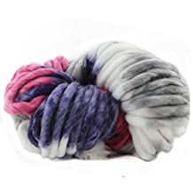 Celine lin Super Chunky Roving Big Warm Yarn for Hand Knitting Crochet,250g(8.8 Ounze),Multi-colored001