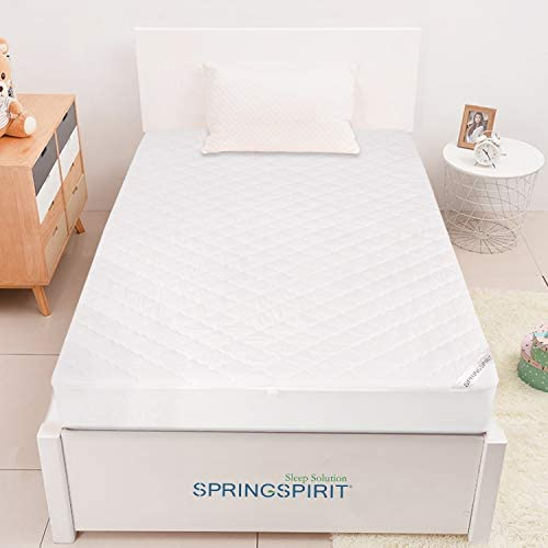 """Mattress Protector Waterproof Twin Size, Breathable & Noiseless Twin Mattress Pad Cover Quilted Fitted with Deep Pocket as much as 14"""" Depth (39""""x 75"""")"""