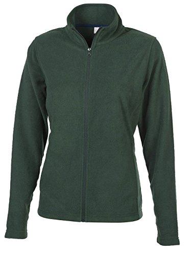 Fashion Cuir Veste zipe Tissu Polaire Vert