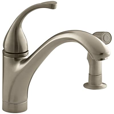 KOHLER Forte® Single-Control Kitchen Sink Faucet with Sidespray and Lever Handle