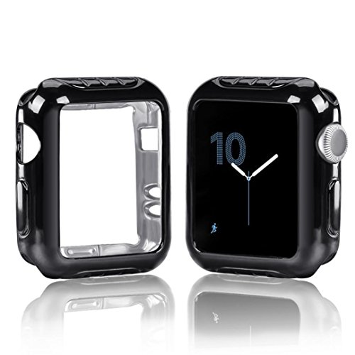 Price comparison product image Inverlee Plating Ultra-Slim Protected Case Cover For Apple Watch Series 2 / 3 42mm (Black)
