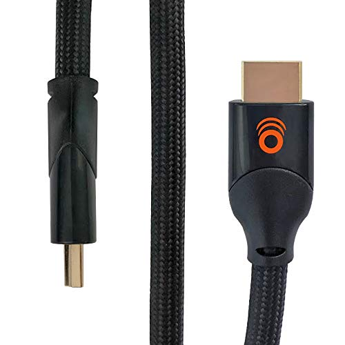 ECHOGEAR 4ft Braided HDMI Cable - 4k & HDR Compatible - Meets Latest HDMI Standard - Gold Plated Connections - Supports HD, 4k Ethernet Signals 120fps Refresh & 48gbps Bandwidth