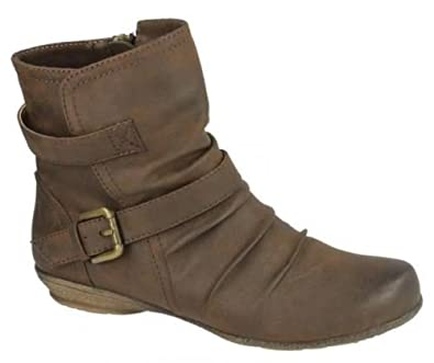 New Look Light Brown Taupe Faux Suede Pixie Boots UK 8 EU 41