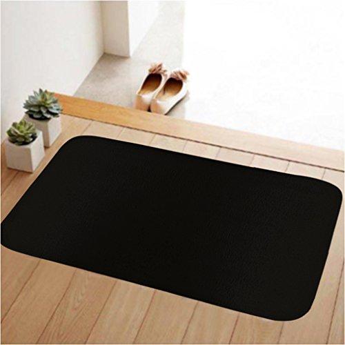 Solid Front Door (ToLuLu Soft Doormat Low Profile Door Mat Door Indoor/Bedroom/Front Door/Bathroom/Kichten etc Mats,31.5 x 19.7 inches,Anti-slip,Lock water,enviroment,Solid Black)