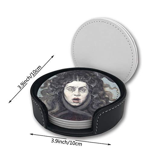 Medusa Halloween Dream Car Coasters Set Mats Pu