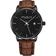 [Sponsored]Stuhrling Original Mens Watch Calfskin Leather Strap - Dress + Casual Design - Analog...