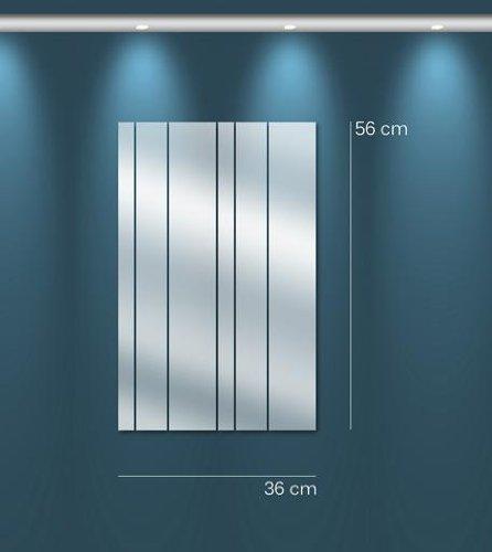 TENDANCE MIROIR M0074 Miroir lames droites Synthétique Argent 115 -5 x 73 -5 x 0 -3 cm