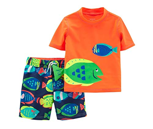s' Rashguard Set (3T, Neon Fish) ()