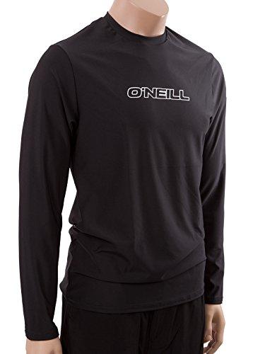 O'Neill Wetsuits Men's Basic Skins UPF 50+ Long Sleeve Sun Shirt, Black, - Men For Surf Suit