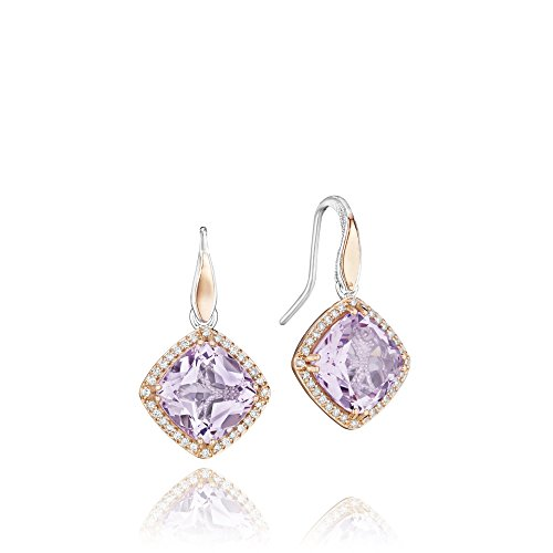 Tacori SE180P13 18K Rose Gold and Sterling Silver Lilac Blossoms Amethyst and Diamond Bloom Drop (Tacori 18k Earrings)