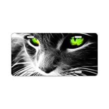 CafePress - cat eyes Aluminum License Plate - Aluminum License Plate, Front License Plate, Vanity Tag