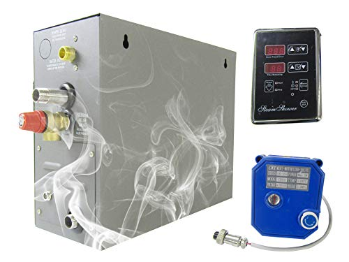 YJINGRUI 7KW Steam Bath Generator Home Steam Shower Sauna Steam Generator for Shower/Sauna Bath/Home SPA 7m3/ with Heat-Preserving/Self-Draining 220V-240V 50/60HZ