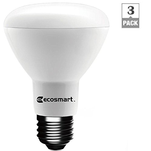 EcoSmart 50W Equivalent Soft White BR20 Dimmable LED Light Bulb (3-Pack) (Ecosmart Light Bulbs Led compare prices)