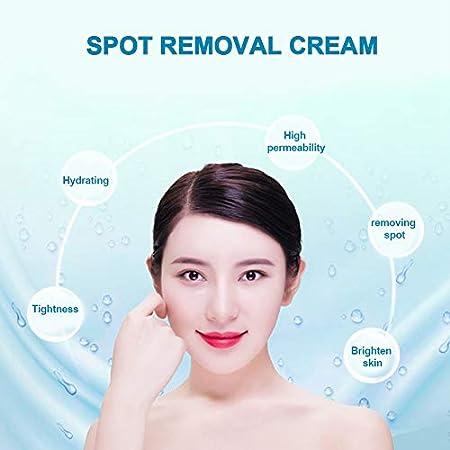 Crema para aclarar la piel, Crema pecosa para manchas antiedad y manchas oscuras blanqueamiento blanqueador para cara, manos, cuerpo