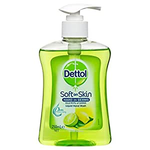 Dettol Liquid Hand Wash Refreshing Lemon Lime Anti-Bacterial Pump, 250ml