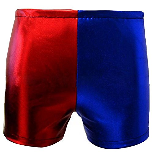 KUFV Women's Misfit booty shorts Red/Blue Harley (Rave On Halloween 2017)