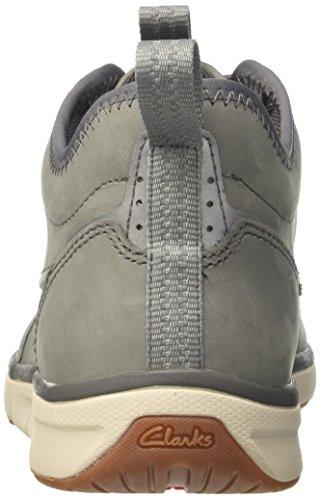 Clarks Herren Orson Mid Sneaker Grau (grijs Nubuck)