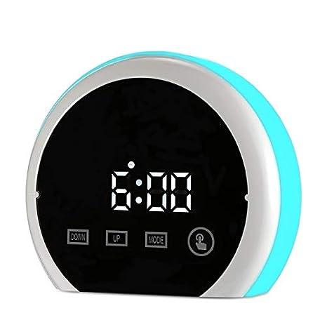 DDUUOO Multifuncional Led Espejo Reloj Despertador Tiempo ...